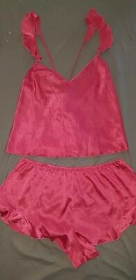Nwt Victoria's Secret Sleep Set (Top/Short) In Pink, Size Large