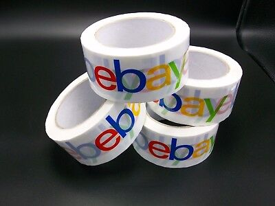 Lot of 4 Rolls eBay Packaging Tape Box Tape Packing Tape Shipping Supplies New