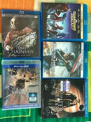 5 Movies In 3D Blu Ray Captain America Winter Solder, Guardians Of The Galaxy, J