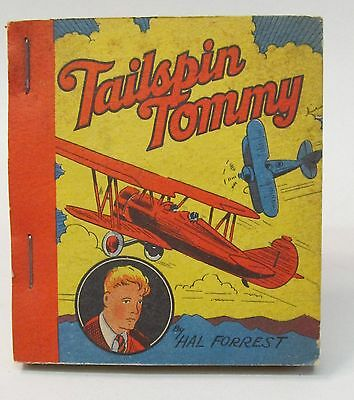 1935 TAILSPIN TOMMY Hal Forrest TARZAN Ice Cream Premium book.  High Grade MINT