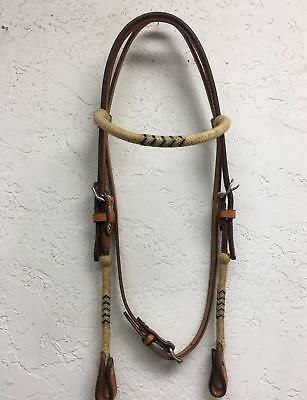 Rawhide Regular  Brow Band Headstall - 12 plts.