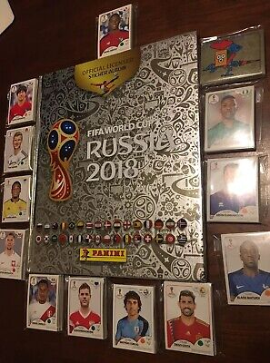 Panini World Cup Russia 2018 Silver Hard Cover Album Complete Set (682 Stickers)