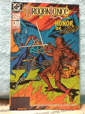 Vintage DRAGONLANCE DC Comic Book #4 January 1989 Honor or Life? NM See Photos