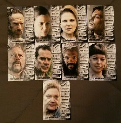 2018 Topps Walking Dead Hunters and the Hunted SP Leaders (9-Card) Complete Set!