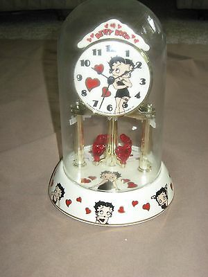 Betty Boop Porcelain Anniversary Collectible Clock