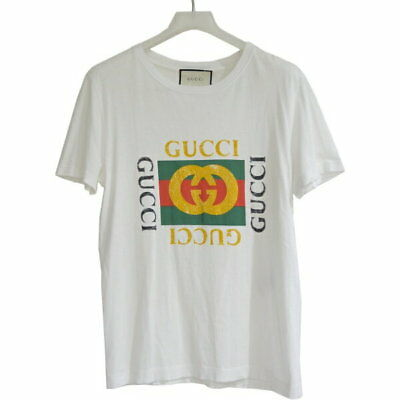 3347110e7 GUCCI VINTAGE LOGO T-shirt Mens Sizes from S to XXL Black Slim to ...