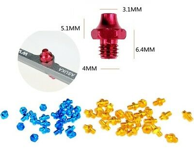 38 Pieces With Tool MOWA Skidproof Pedal Screws Gold