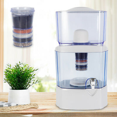 24L 5 Stage Water Filter Ceramic Carbon Mineral Benchtop Dispenser Purifier 2019
