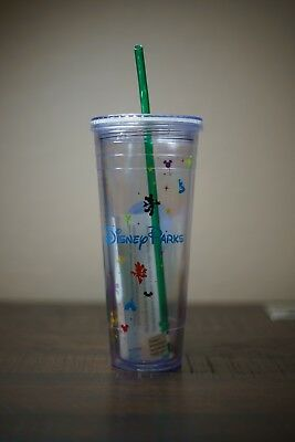 Disney Parks Starbucks Cold Cup Venti 24oz Acrylic Tumbler NEW NWT RETIRED