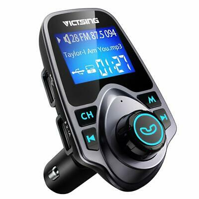 Bluetooth Car Kit FM Transmitter Wireless Radio Adapter USB Charger for Phone