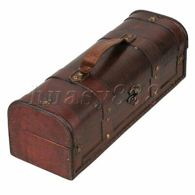 Retro Wooden Vintage Wine Storage Box Bottle Wedding Groomsman Bridesmaid Gift