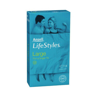 NEW Ansell Lifestyles Condoms Large 12's