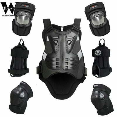 Motorbike Protector Chest Vest Guard Body Armour Bike Cycling Elbow Knee Gear