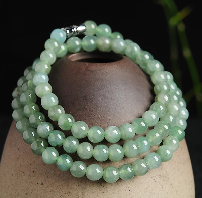 Natural jade Chinese carved by hand round jade pendant Women Fashion 7mm