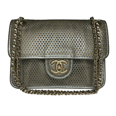 477ab2d158e Chanel A67652 French Riviera chain shoulder leather bag beige, (N1568