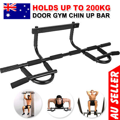 Pull Chin Up Bar Exercise Portable Muscle Power Gym Door Doorway Fitness Station