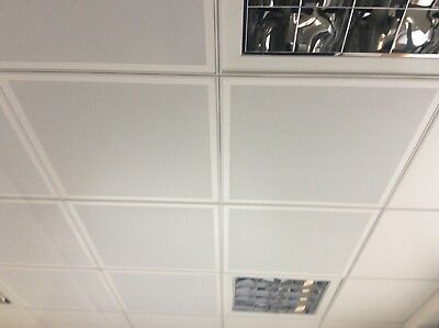 Metal suspended ceiling tiles - Armstrong. Reclaimed