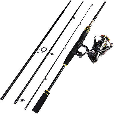 """(6'6""""Spinning Rod+2000 Reel) - Fishing Rod and Reel Combo,4 Piece Ultra Light"""