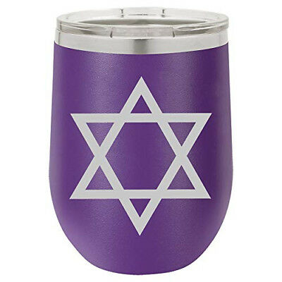 (Purple) - 350ml Double Wall Vacuum Insulated Stainless Steel Stemless Wine