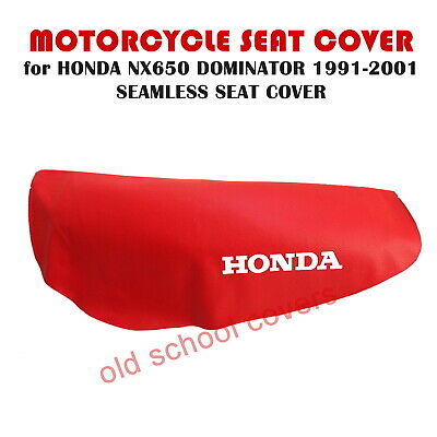 HONDA NX650 NX 650 DOMINATOR 1988-1989 BLUE SEAT COVER with LOGOS to SIDES