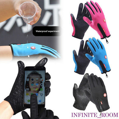 Winter Warm Windproof Waterproof Anti-slip Thermal Touch Screen Gloves Zipper