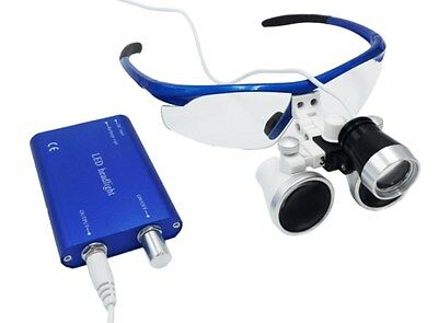 Dental Surgical Binocular Loupes 3.5X Medical Magnifier + LED Dentist Headlight