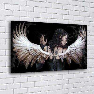Angel Wings HD Canvas prints Painting Home Decor Picture Room Wall art 104271