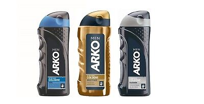 New Arko after shave cologne 3 different type Gold power,cool and platinum 250ml