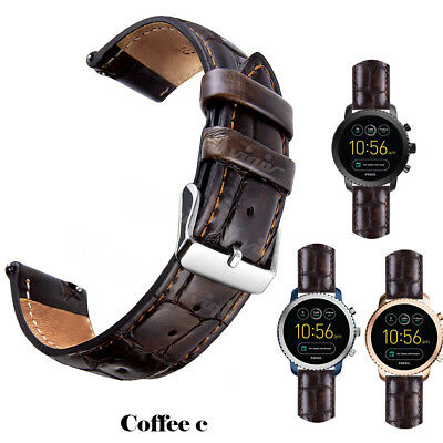 18mm 20mm 22mm Replacement Quick Release Genuine Leather Watch Bands Wrist Strap