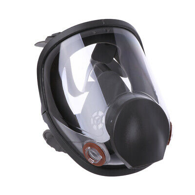 Full Face Facepiece Respirator Kit Painting Spraying Dust Silicone Gas Mask