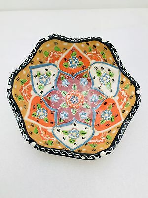 Traditional Turkish Multicolour Hand Painted Bowl - Small - Snack ,Jewellery,...
