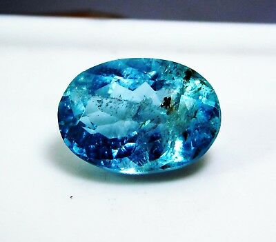 3.75 Cts. Natural Oval Cut Transparent Ocean Blue Aquamarine Loose Gems. 1090 as