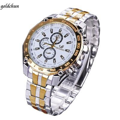 Stainless Steel Band Classic Quartz Round Analog Men's Casual Wrist Watch US