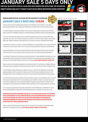 January Sale VIrtual DJ Pro 8.2 All Supported Controllers Apple Mac 7.03 Win