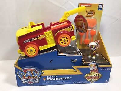 Paw Patrol Flip & Fly Marshall Fire, Mighty Pups Transforming Vehicle TOY - NEW