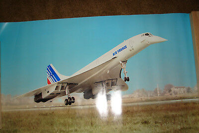 """Air France Concorde Poster 1978  24 X 39 1/2"""""""
