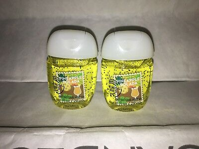 Pineapple Colada 2x Bath & Body Works Anti Bacterial Hand Gel RARE Scent