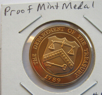 UNITED STATES DEPARTMENT OF THE TREASURY PROOF MINT MEDAL 26mm