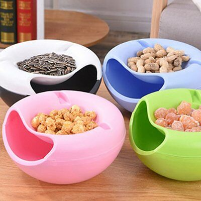 Multifunction Fruit Plate Double Layer Container Peel Seeds Storage Box AZ