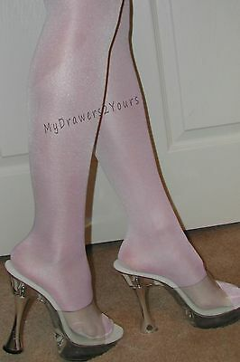 PEAVEY HIGH GLOSS TIGHTS 40 Denier Hooters Girl Hosiery WHITE Sizes A B C D Q