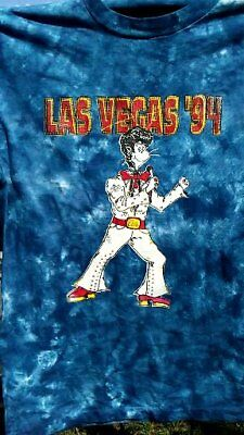 grateful dead parking lot tye dye Las Vegas ELVIS 1994 VINTAGE T SHIRT GREAT SHA