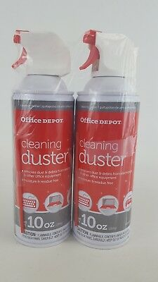 Compressed Gas Air Duster, 10 oz Computer Keyboard Cleaning Spray 2 PACK