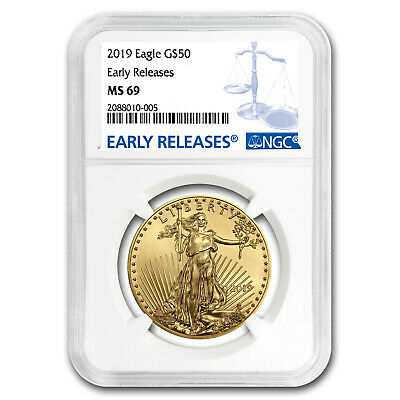 2019 1 oz Gold American Eagle MS-69 NGC (Early Releases) - SKU#171551