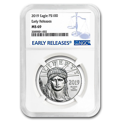 2019 1 oz Platinum American Eagle MS-69 NGC (Early Releases) - SKU#181411
