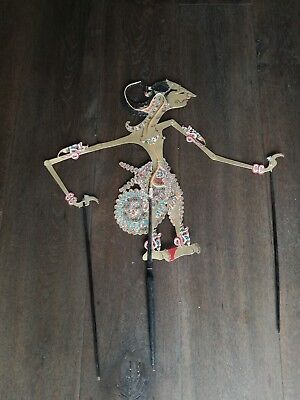 marionetta indonesia, bali puppet. early indonesian puppet