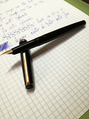 Penna stilografica Montegrappa placcata in oro, made in Italy, tratto EF