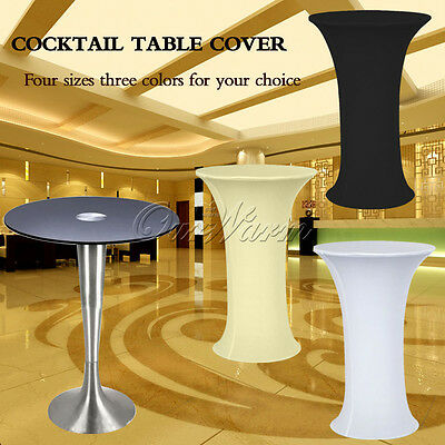 Lycra Spandex Stretch Cocktail Tablecloth Wedding Event Party Bar Table Cover