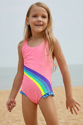 0fd56feb0 Girl Cute Rainbow Swimsuit Kids One Piece Swimming Swimwear Beach Bathing  Suit