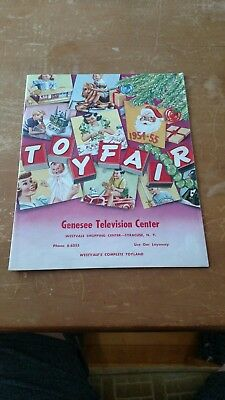 VINTAGE 1954-55 Toy Fair, Genesee Television Center Syracus NY Christmas Catalog