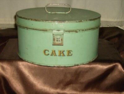 Antique Fries Metal Cake Carrier